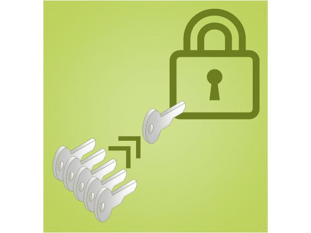 Conceptual multi-factor authentication graphic